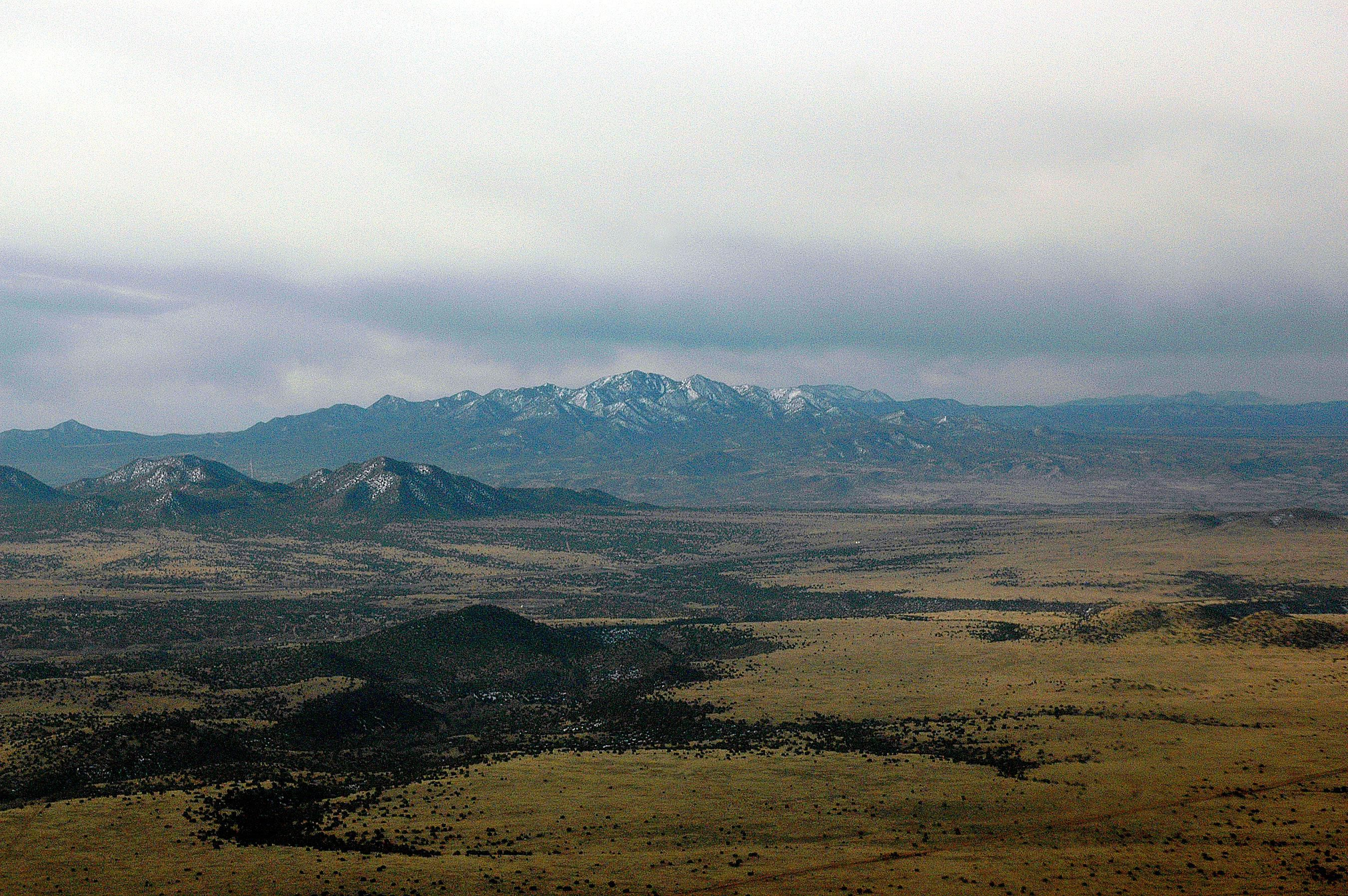 Eastern slope of the Sandia Mountains
