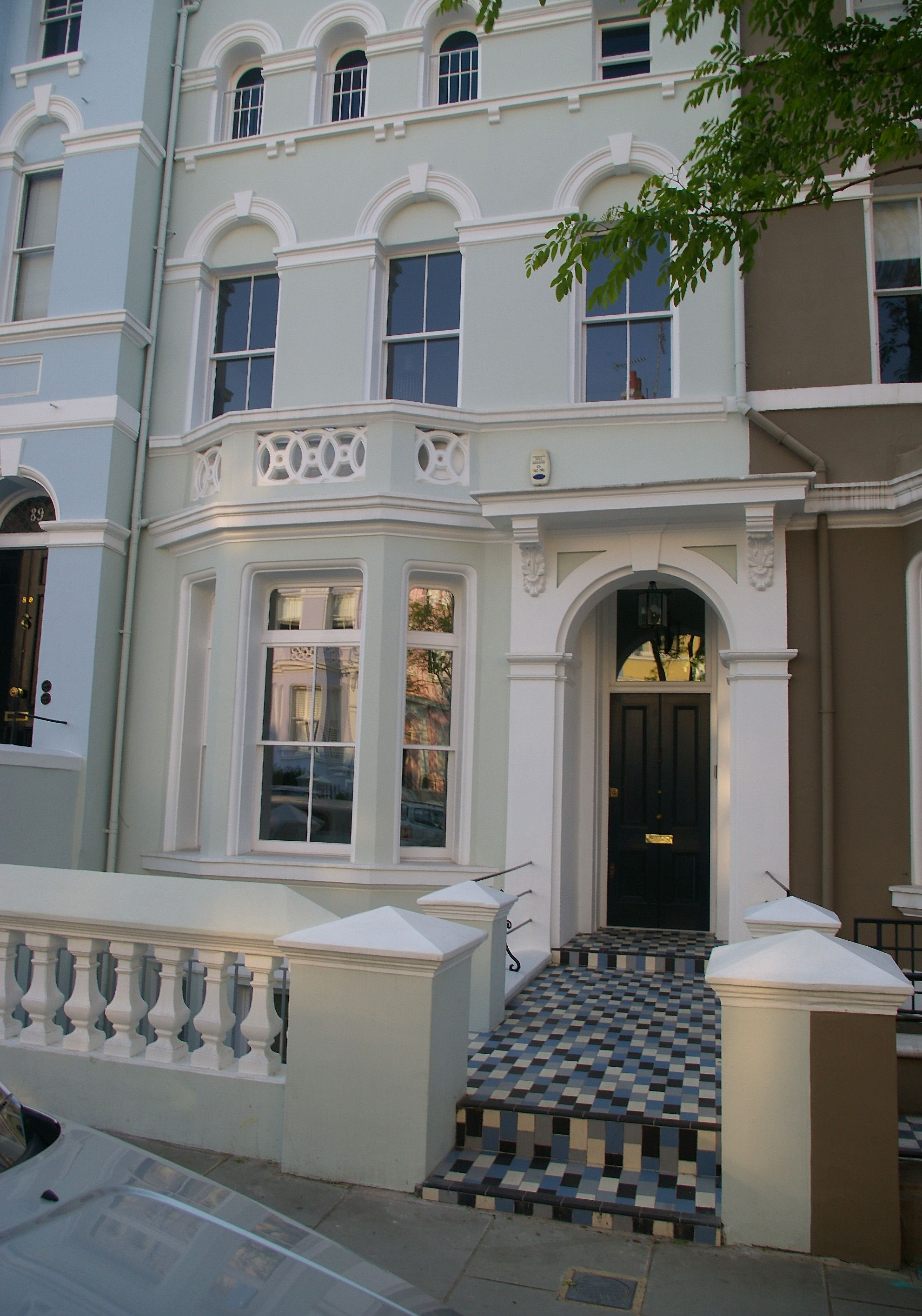 A Walking Tour Of Notting Hill Movie Locations - Colorful-home-interior-on-portland-road-in-london