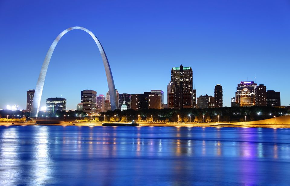 Gateway Arch And St Louis Skyline