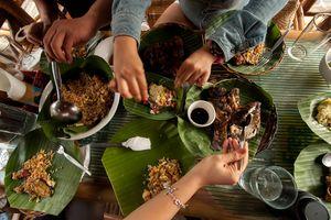 Filipino food spread