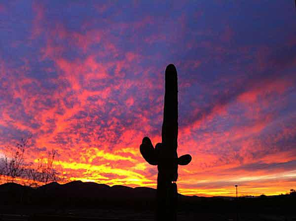 Sunset in Peoria, Arizona