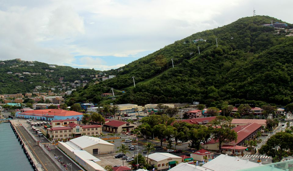 View of the Paradise Point Tram Ride in the U.S. Virgin Islands