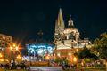 Guadalajara's Plaza de Armas by Night