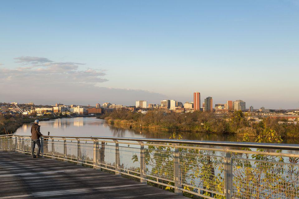 Riverfront Bridge leading to DuPont Environmental Education Center, Wilmington