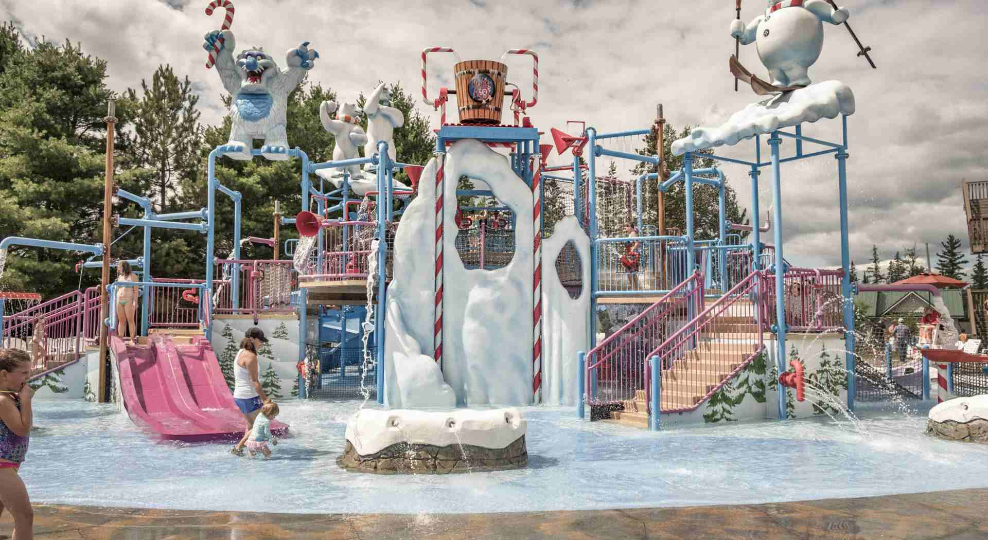 Santa's Village water play area