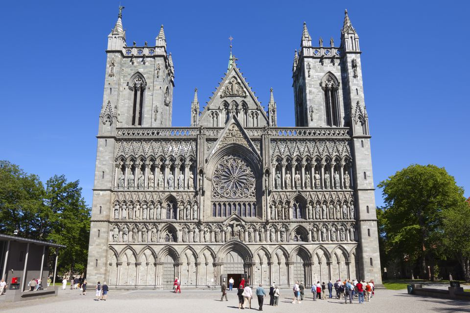 The Nidaros Cathedral, Trondheim, Sor-Trondelag, Norway, Scandinavia, Europe