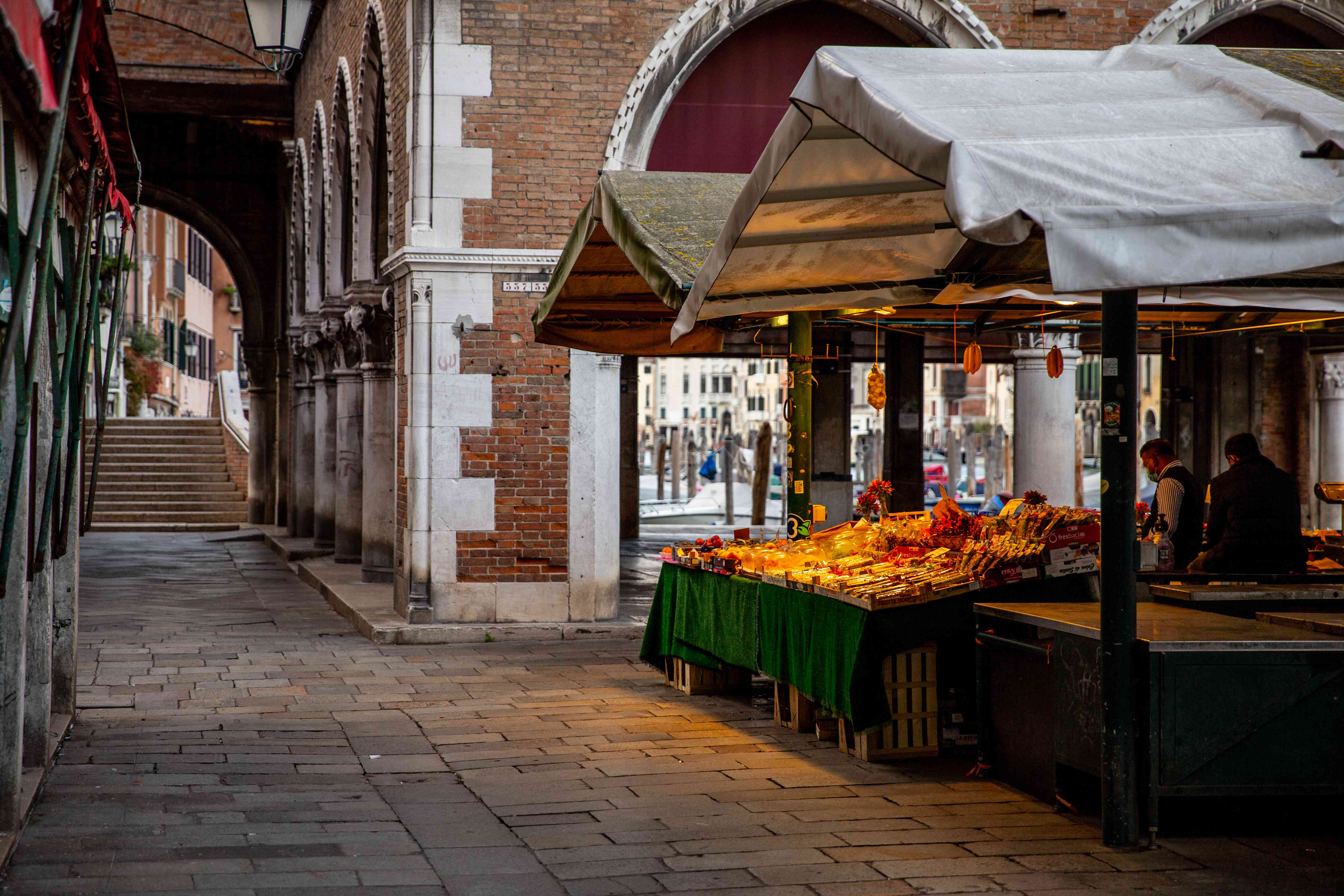 The Rialto Market in Venice