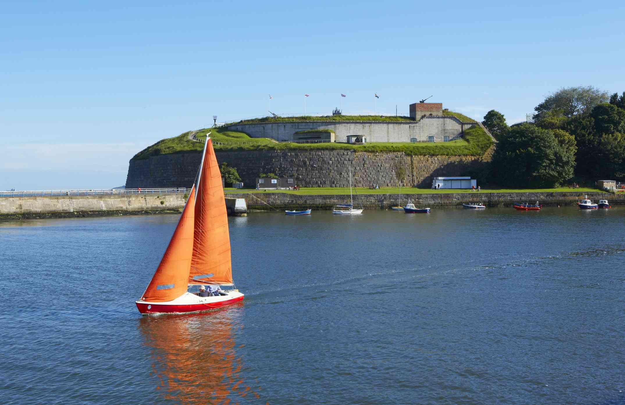 Barco en el río Wey en Weymouth