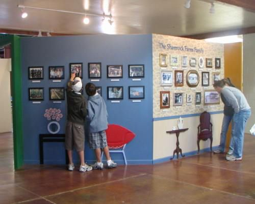 Educational exhibits on a dairy farm