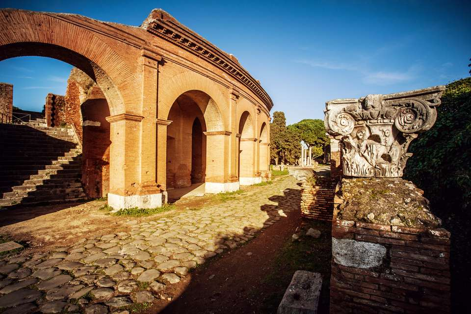 Roman Theater at Ostia Antica Archeological Site