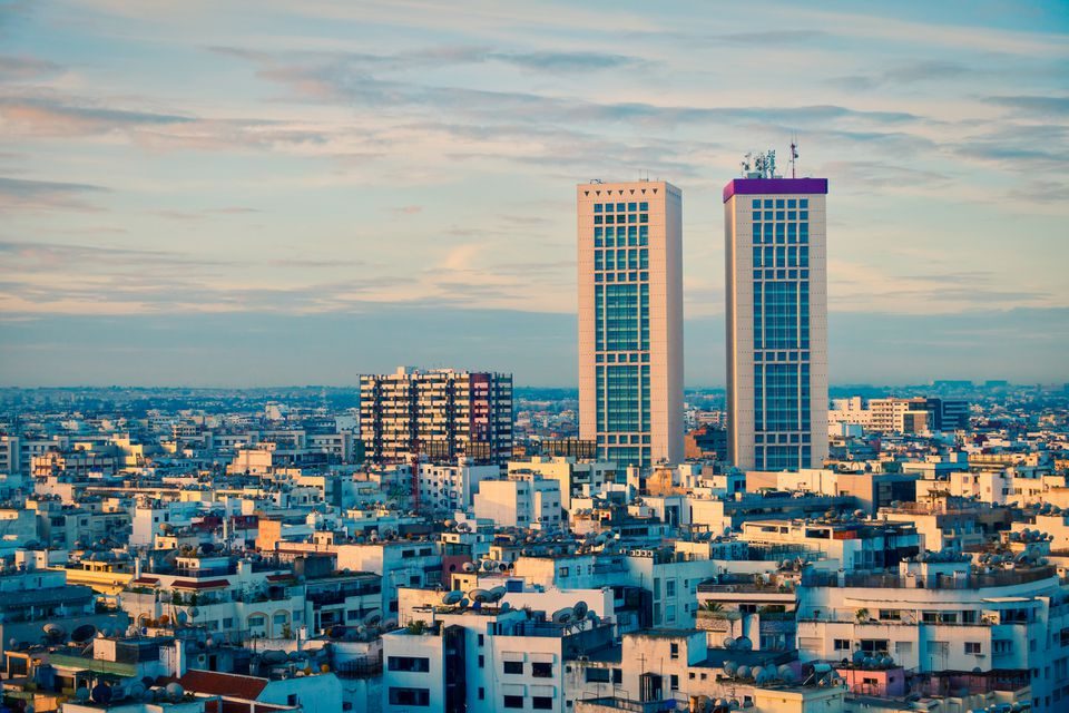 View of Casablanca's Twin Center and Kenzi Tower Hotel