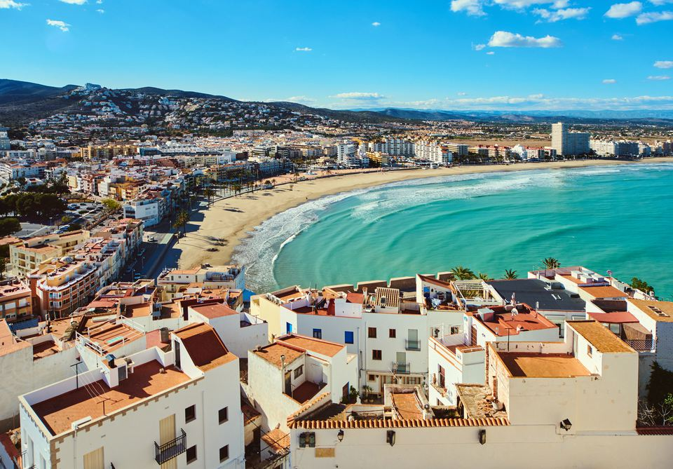Beach in Peñíscola, Valencia, Spain