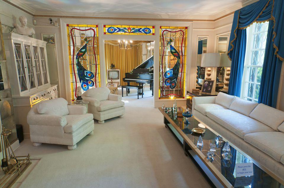 Graceland Living Room In Memphis