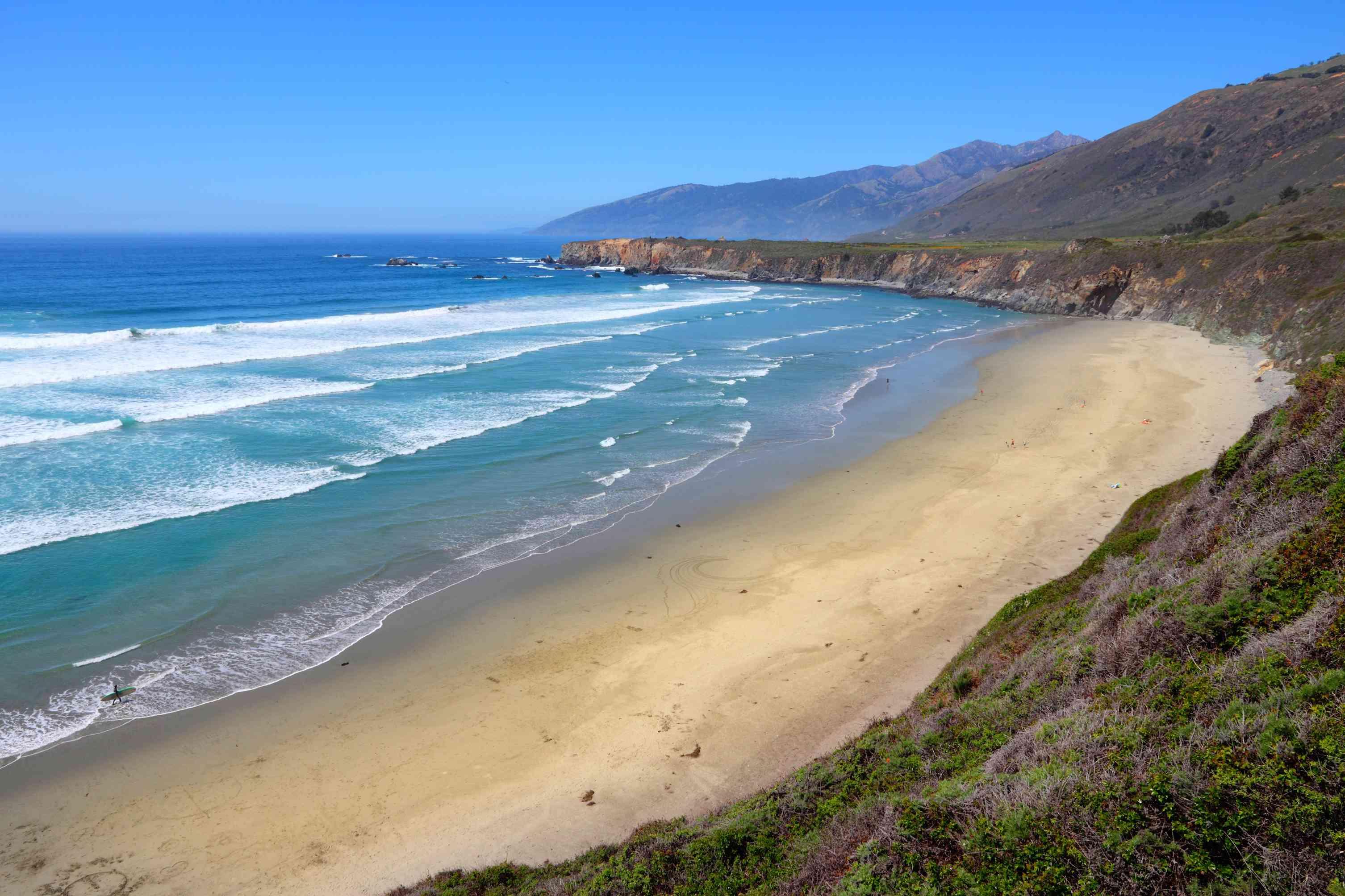 Big Sur region - Sand Dollar Beach (Monterey County).