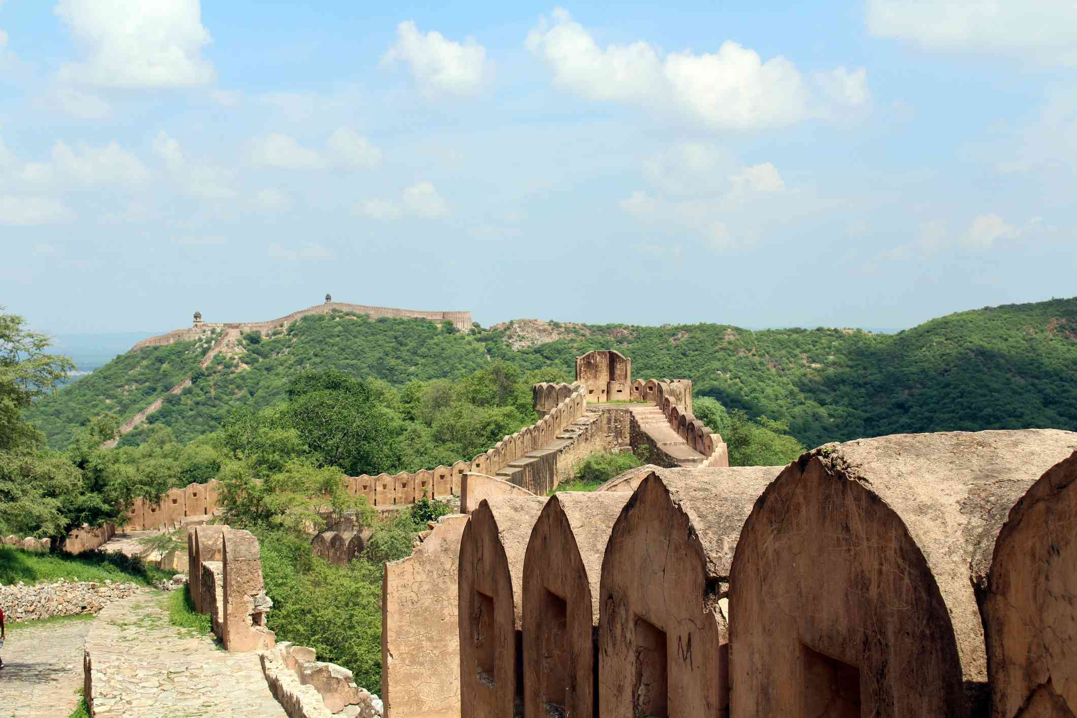 Around the Jaigarh Fort, not that far from the famous Amer (or Amber Fort) of Jaipur.