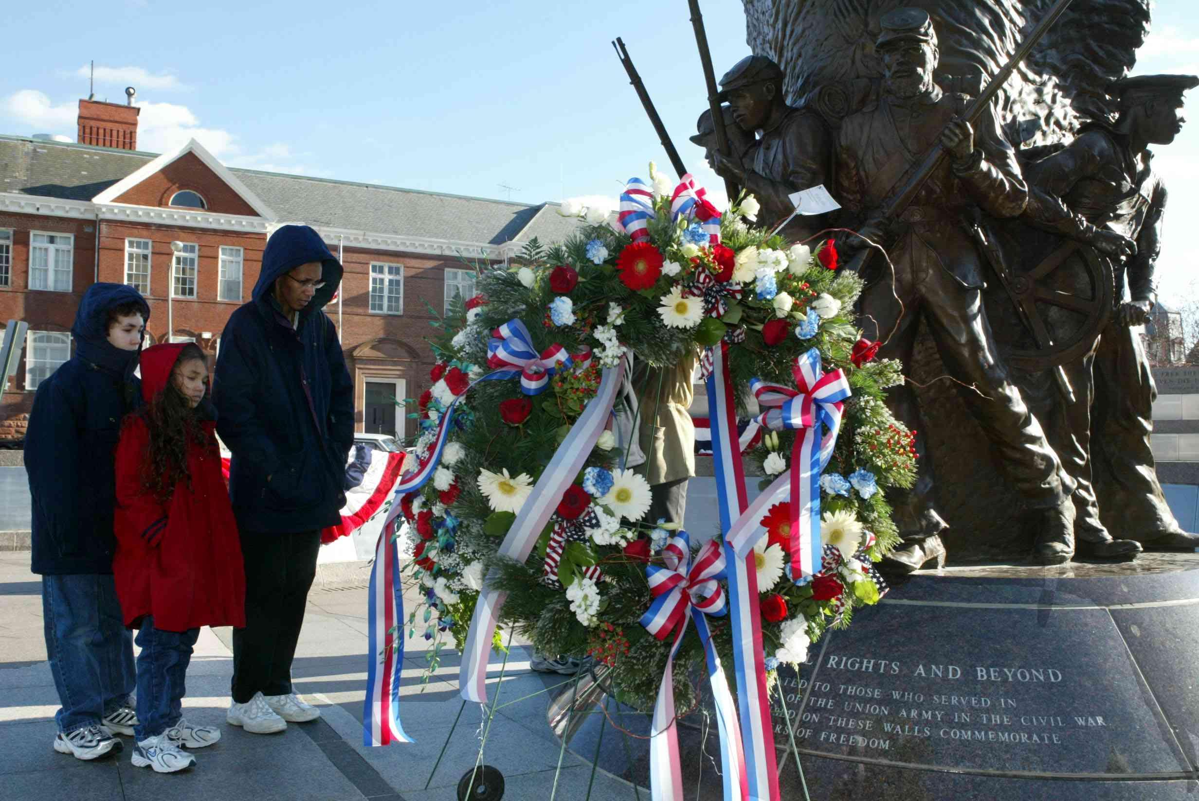 Ceremonia de colocación de guirnaldas en honor del Dr. Martin Luther King, Jr. en Washington