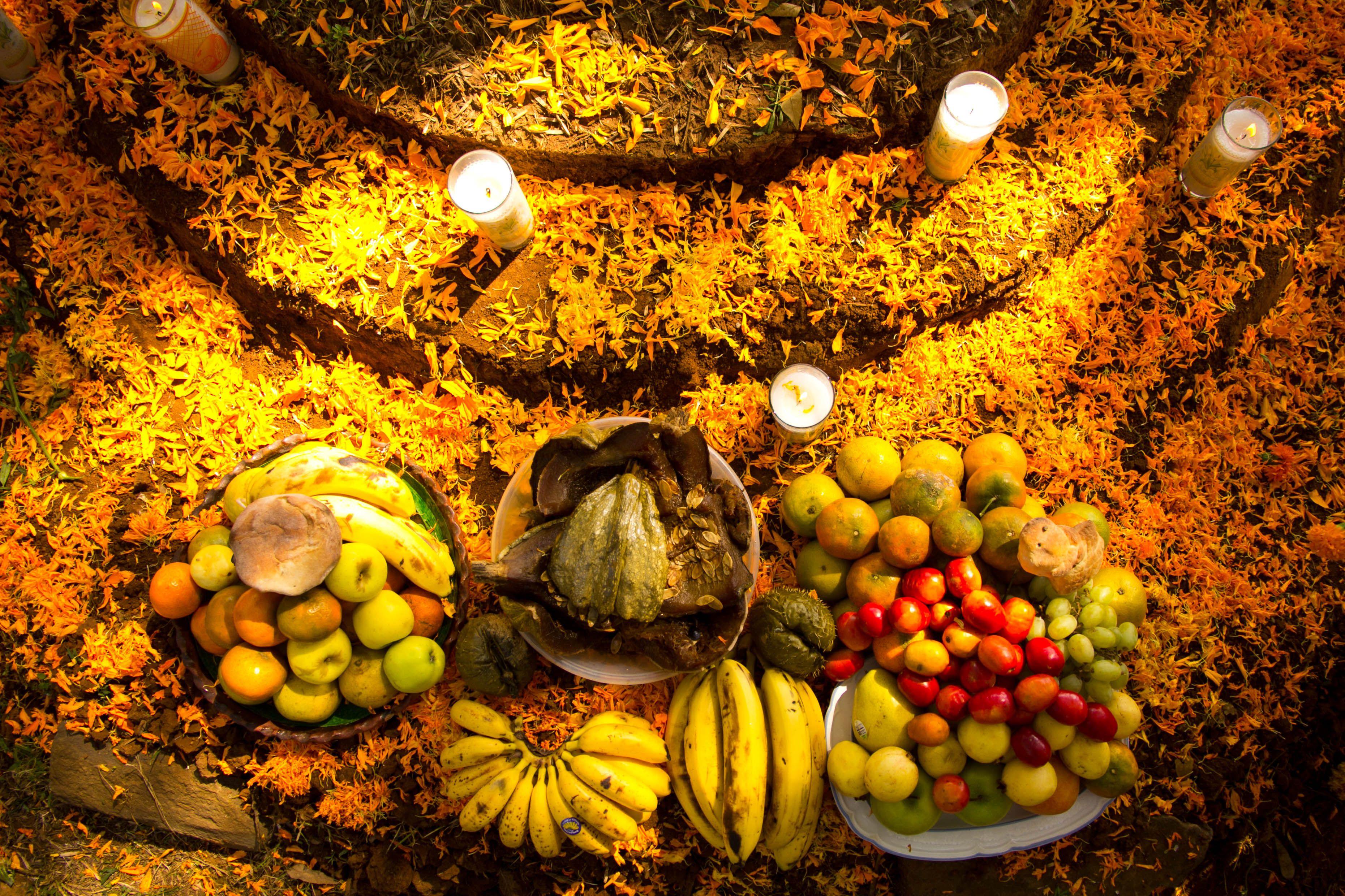 Foods for Day of the Dead (Dia de los Muertos)