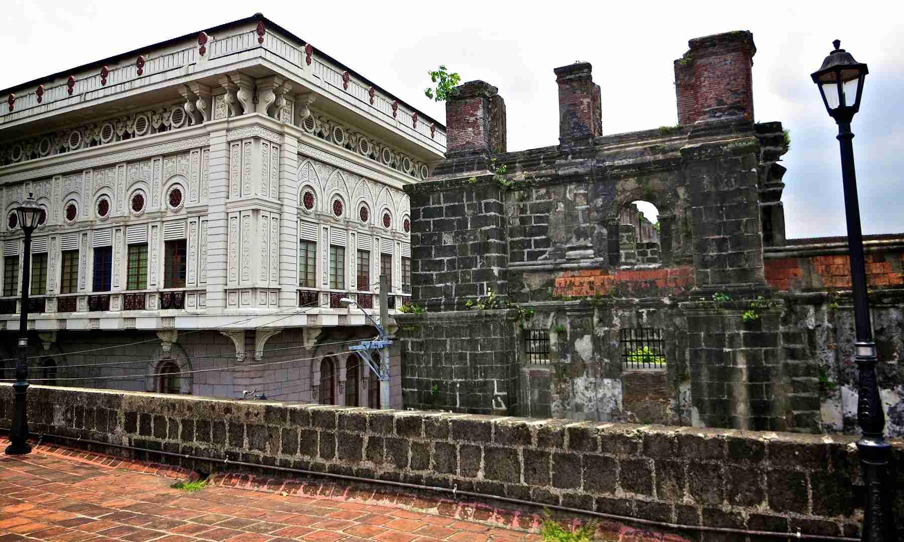 Walls atop Puerta de Santa Lucia, Intramuros