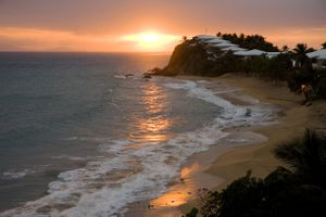 Sunset at Curtain Bluff resort, Antigua