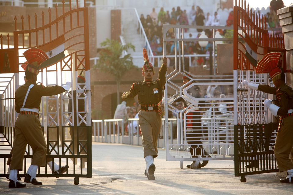 Wagah Border ceremony.
