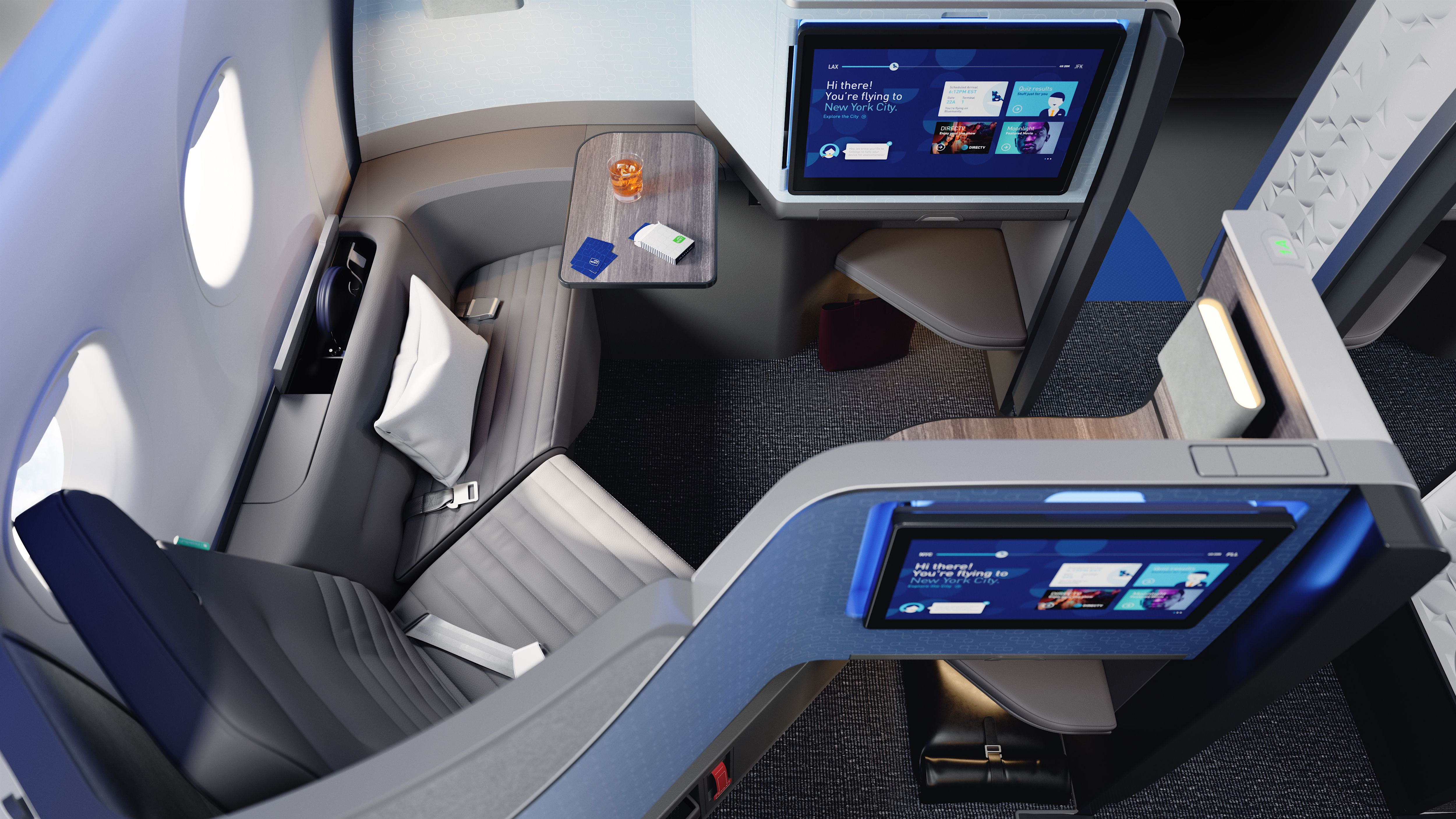 JetBlue Debuts All-New Business-Class Suites with Private Doors