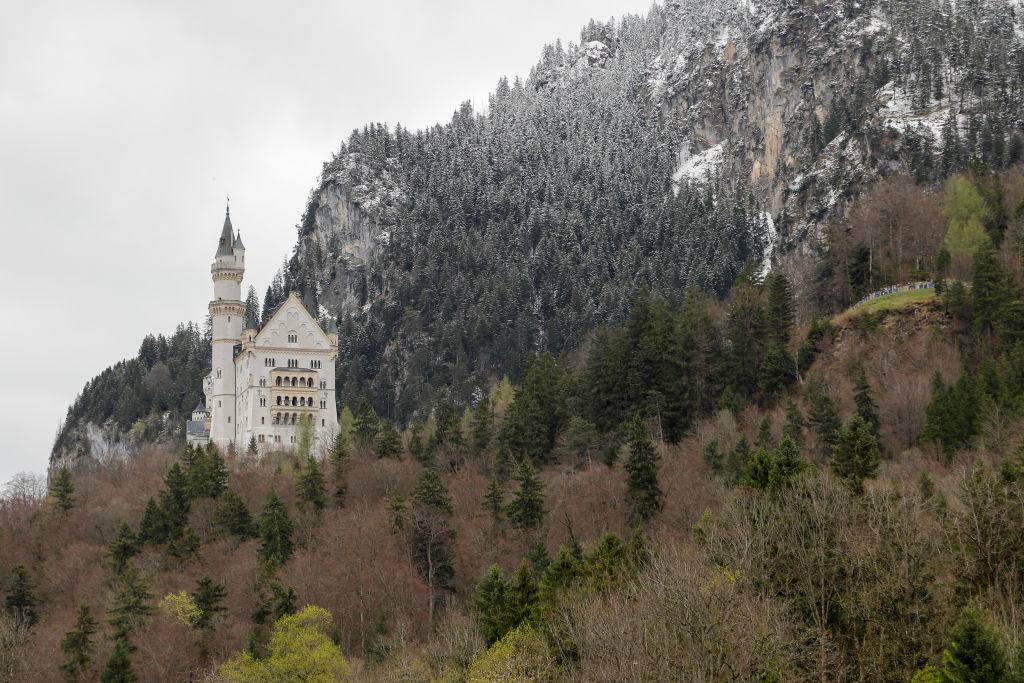 View from village Hohenschwangau of Neuschwanstein