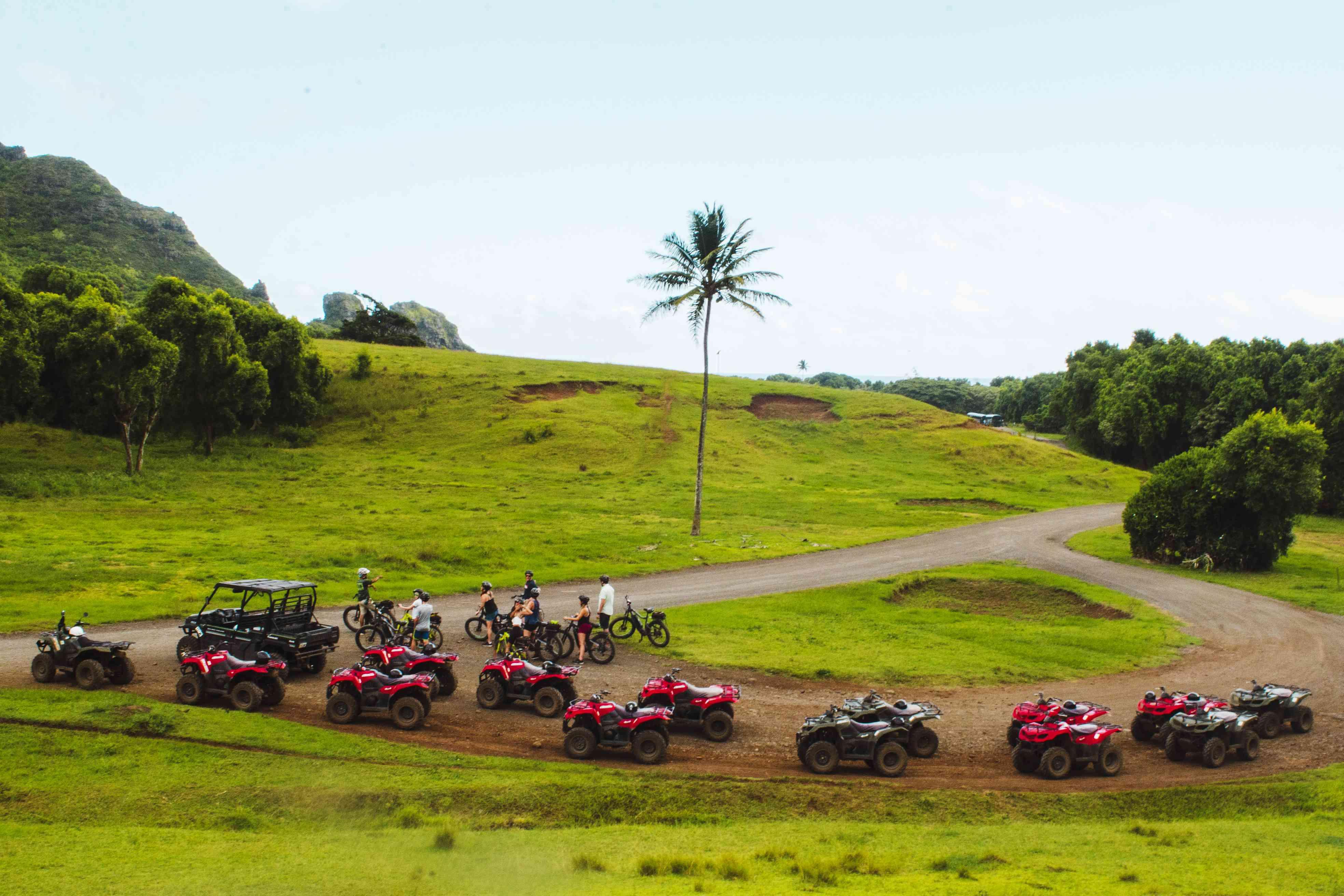 ATV tour and mountain bike tour at Kualoa Ranch