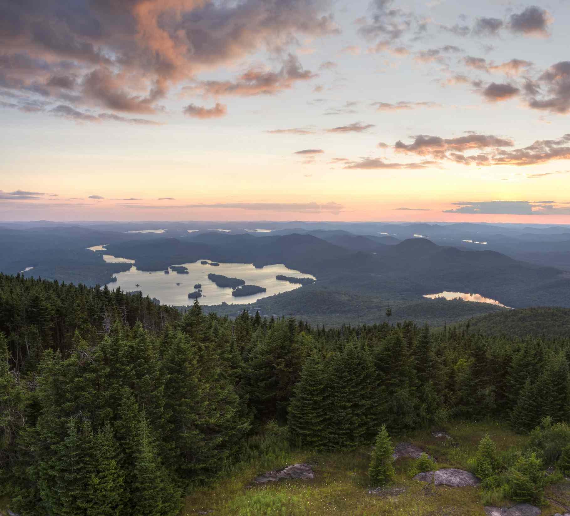 Adirondacks Sunset from Blue Mountain