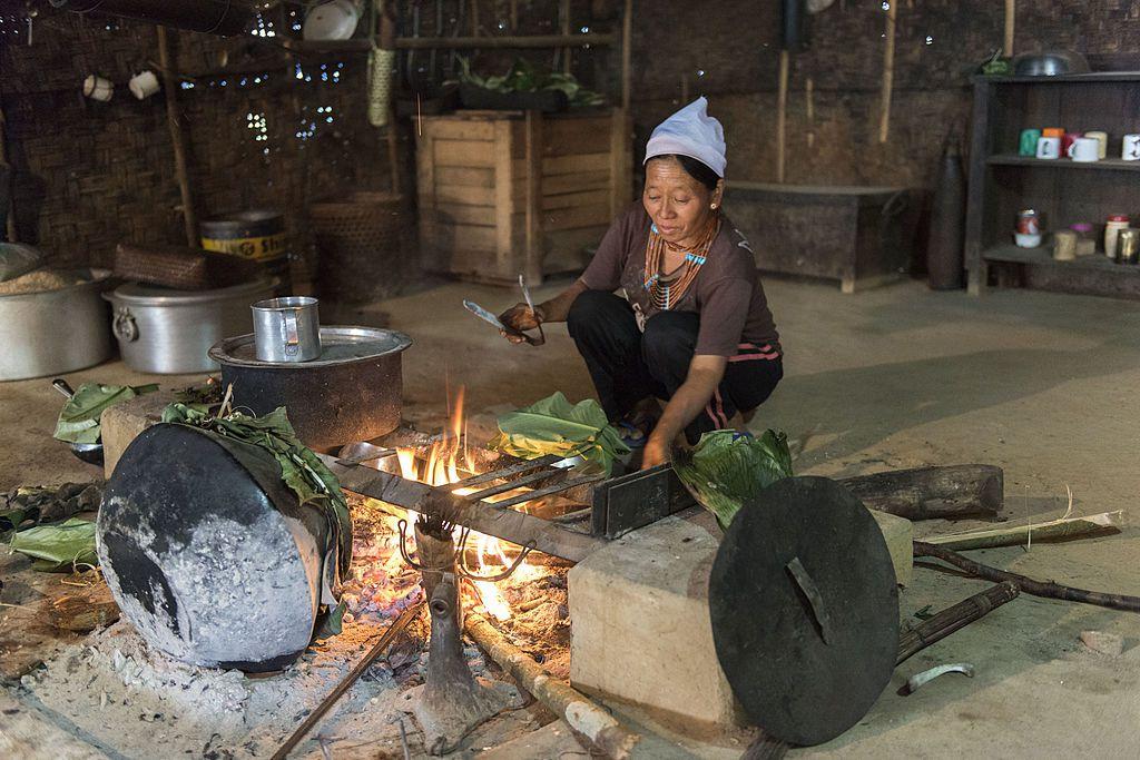 Kitchen Inside Konyak House, Shangnyu Village