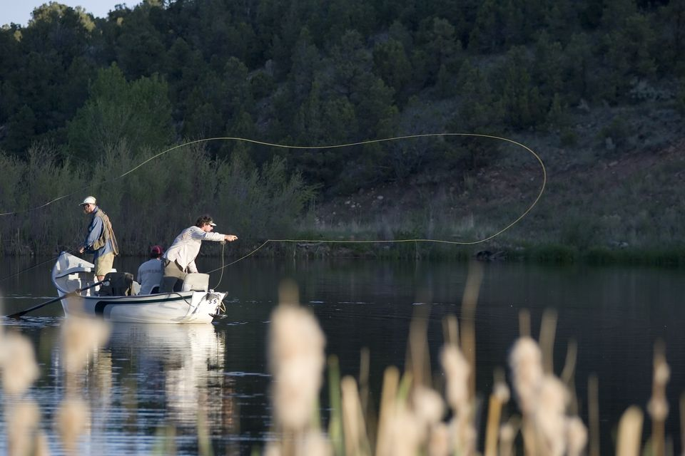 Three men fishing
