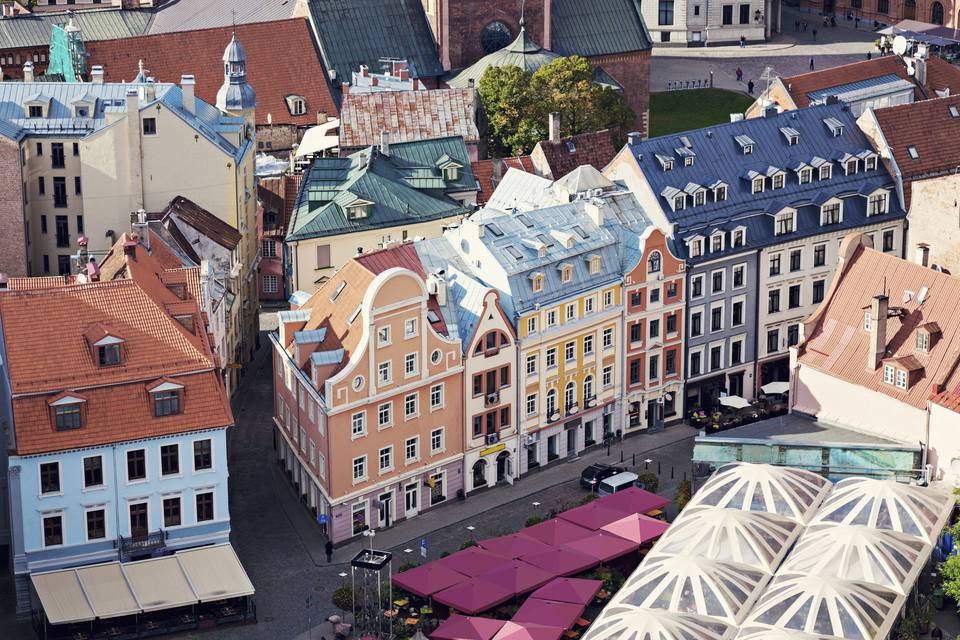 Latvia, Riga, Old town architecture