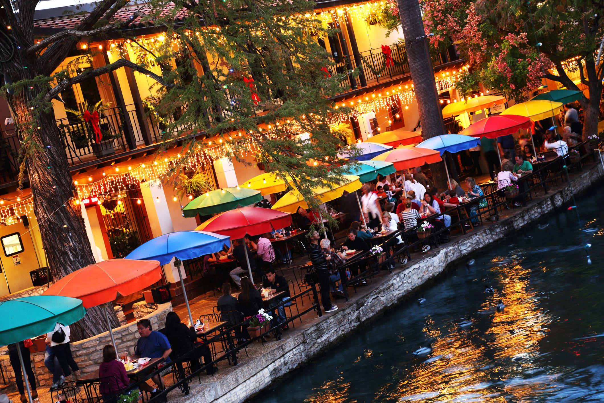 Riverwalk in San Antonio in December