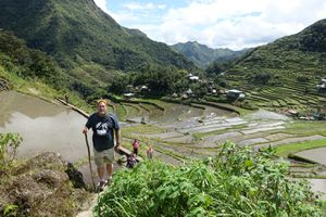 Hiking up from the Batad village