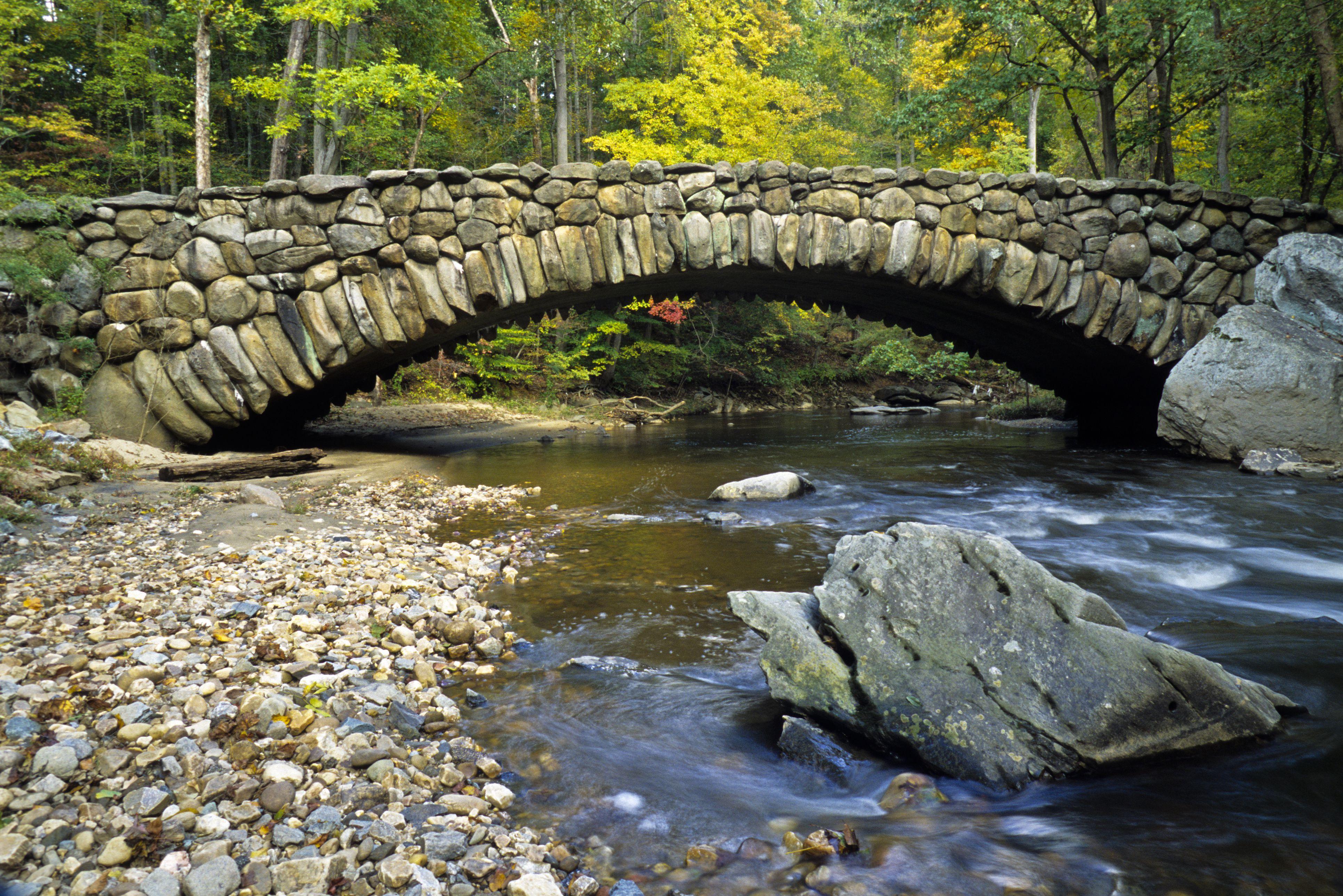 Boulder Bridge, Rock Creek Park, Washington DC, USA