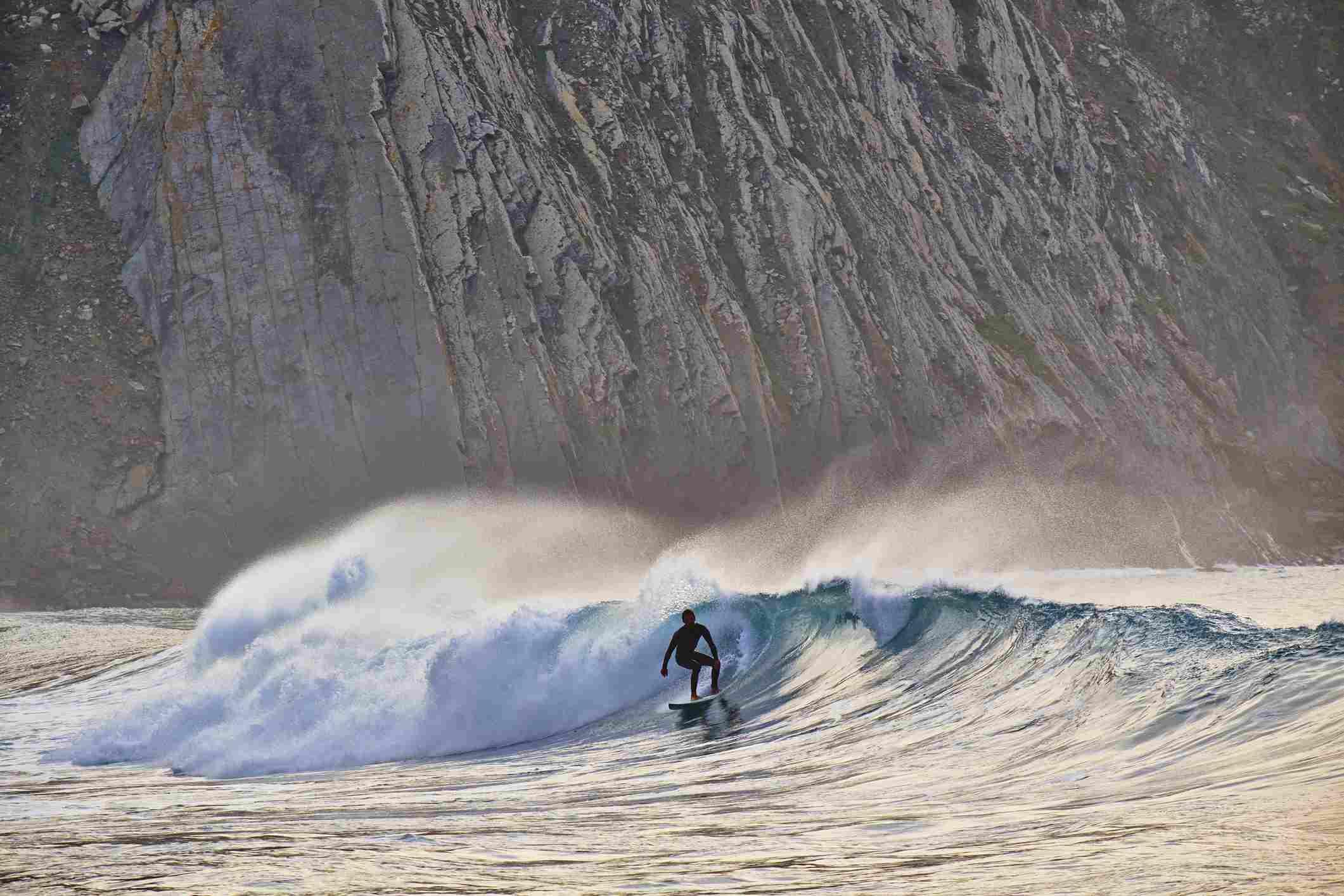 Surfing in Sagres