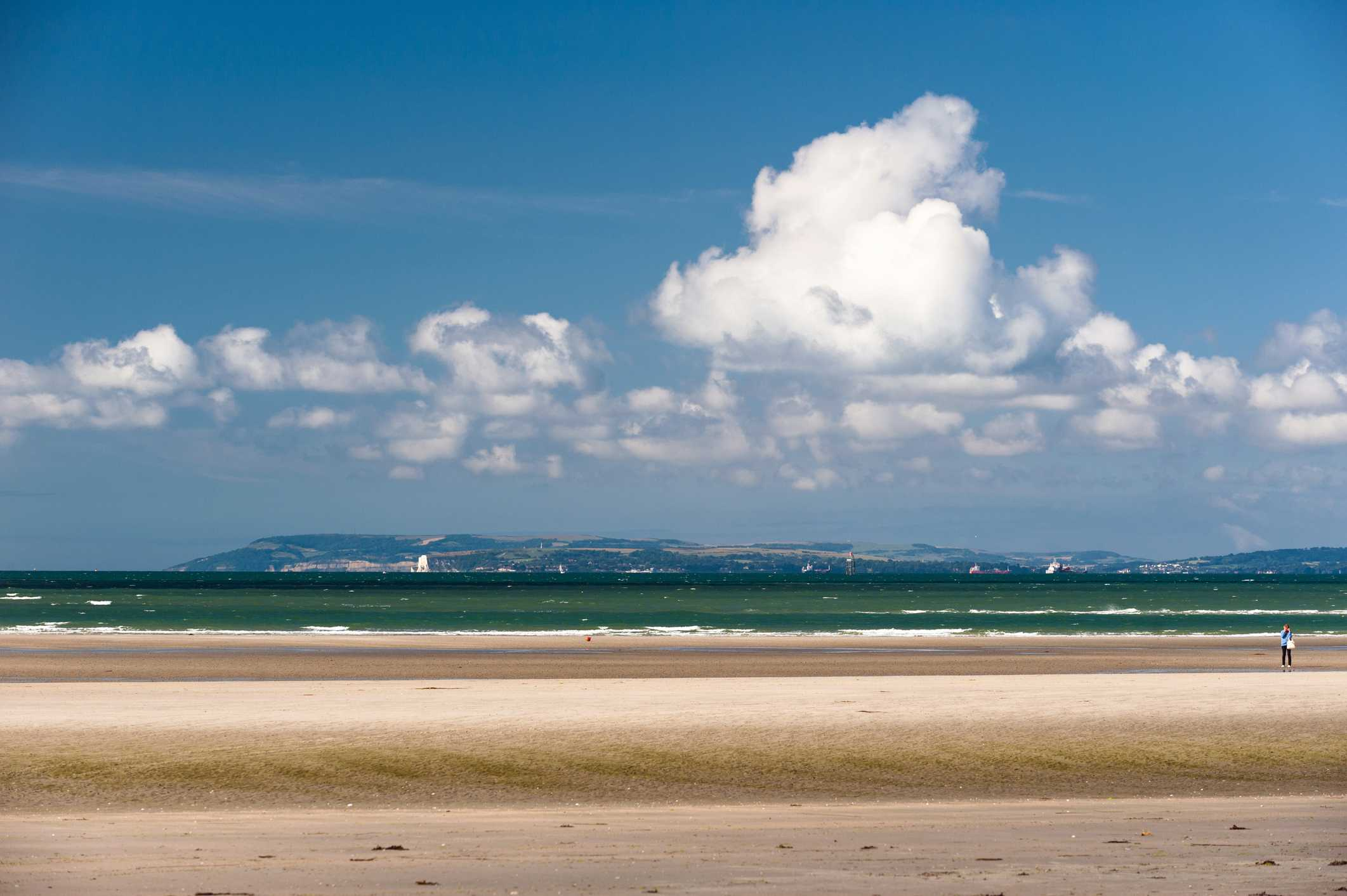 West Wittering beach at low tide.