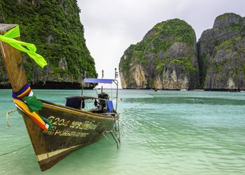 Long-tail boat off of Koh Phi Phi, Thailand