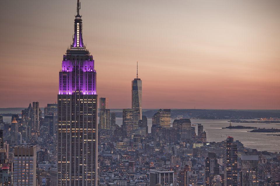 Edificio Empire State al amanecer, Nueva York, Nueva York, Estados Unidos