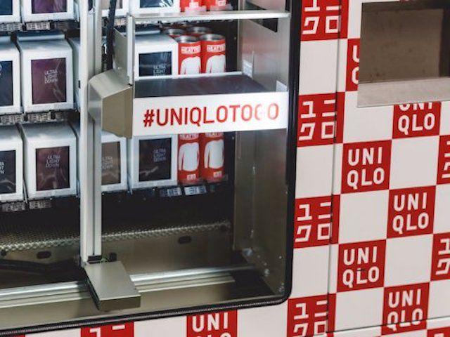 A Uniqlo vending machine.