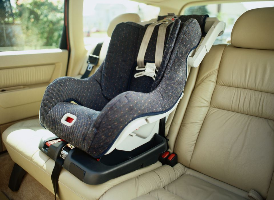 Empty Car Seat In The Back Of A