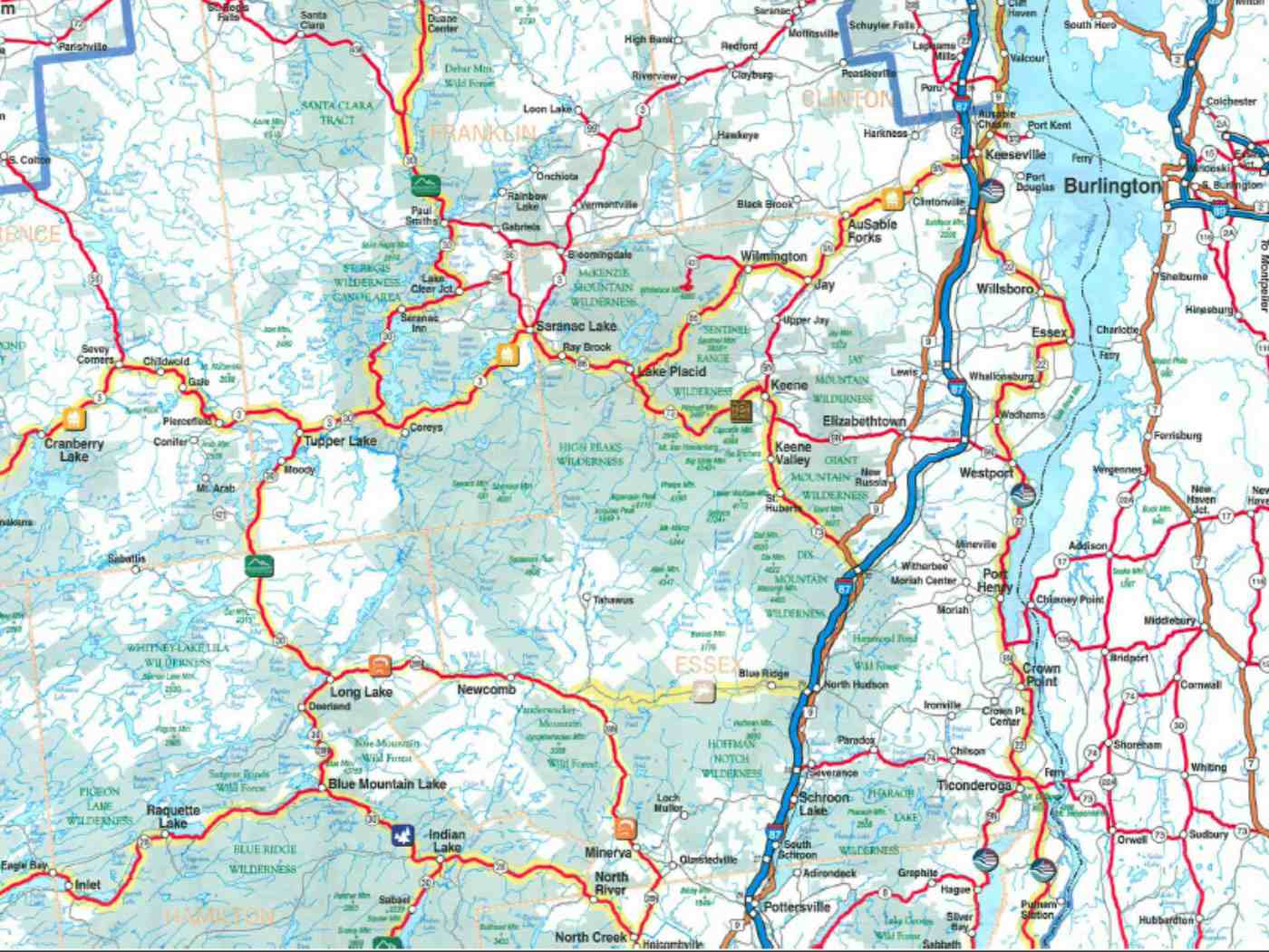 Map Of New York And Surrounding Areas.Maps Of New York Nyc Catskills Niagara Falls And More