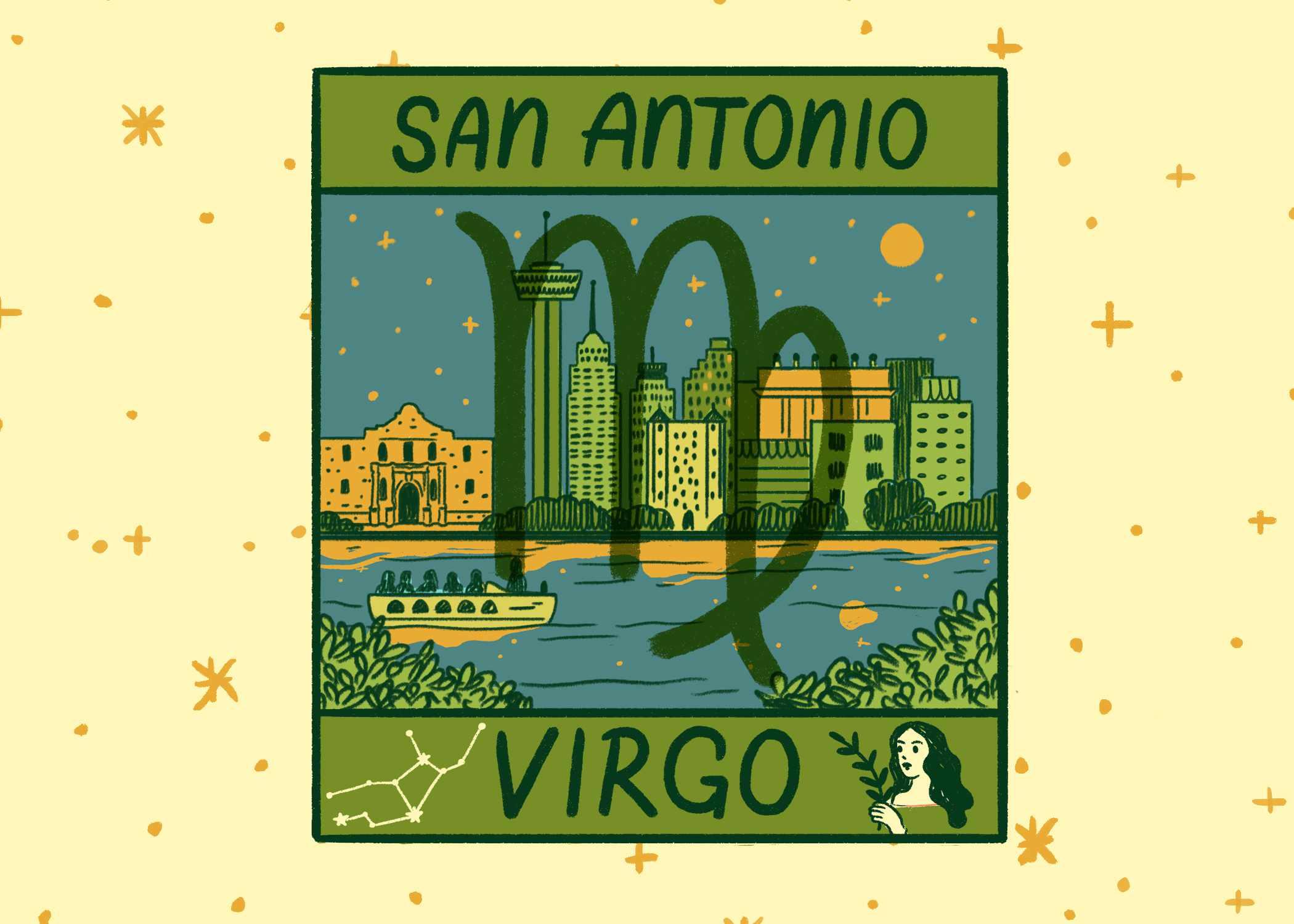 Illustration of San Antonio and Virgo