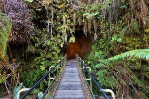 Lava Tube Entrance, Hawaii Volcanoes National Park, Big Island, Hawaii