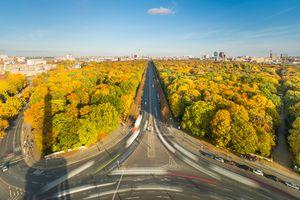 Berlin Modern Urban Skyline City in Autumn