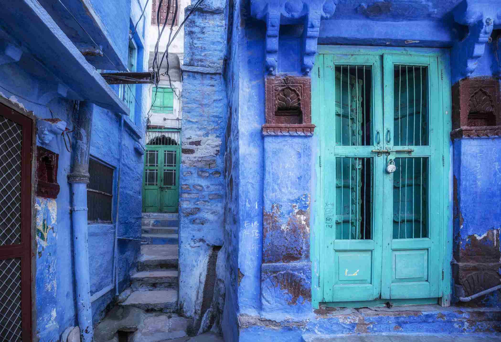 Jodhpur blue building