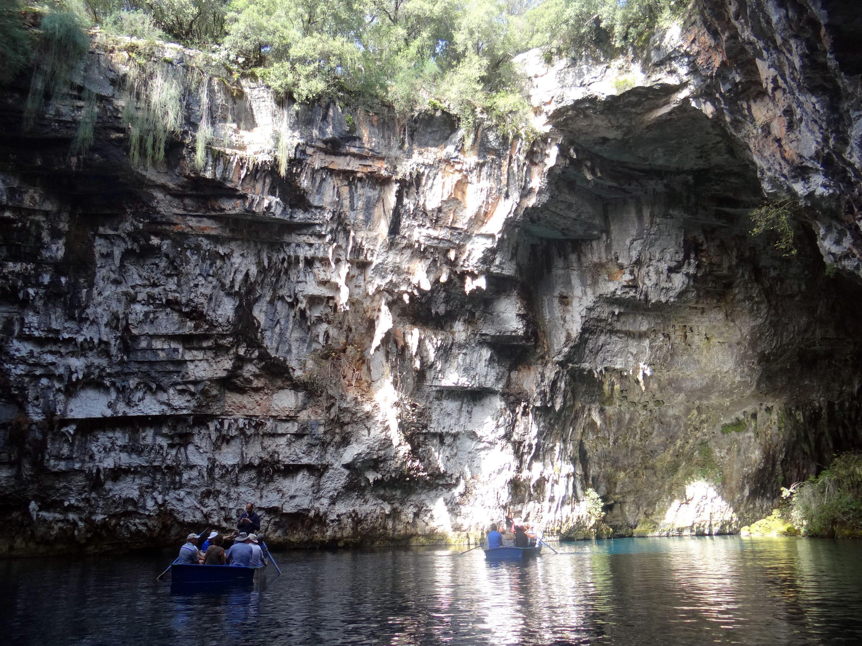 Melissani Lake on the Greek island of Kefalonia