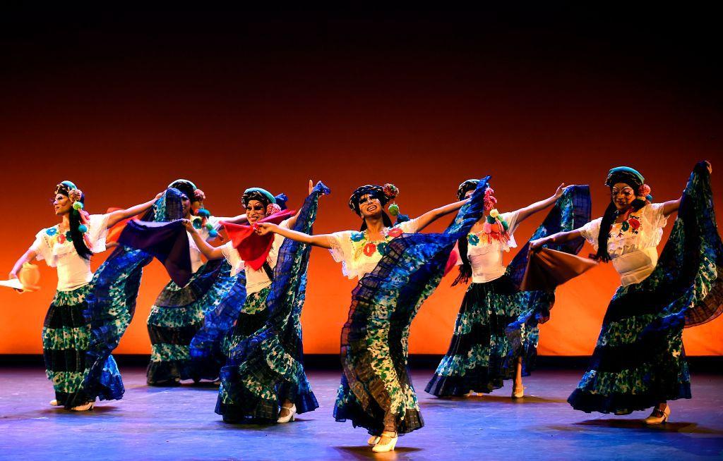 Dance company Mexico de Colores performing at the Teatro de la Ciudad in Mexico City