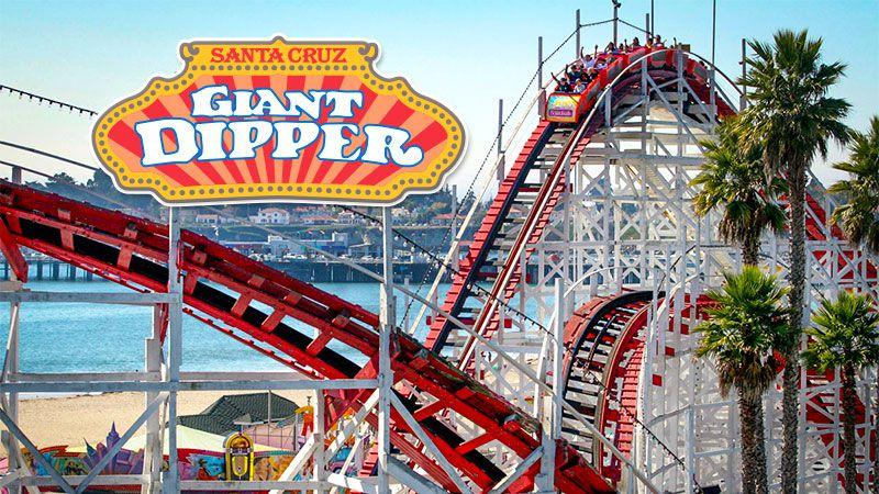 Giant Dipper coaster at Santa Cruz Beach Boardwalk