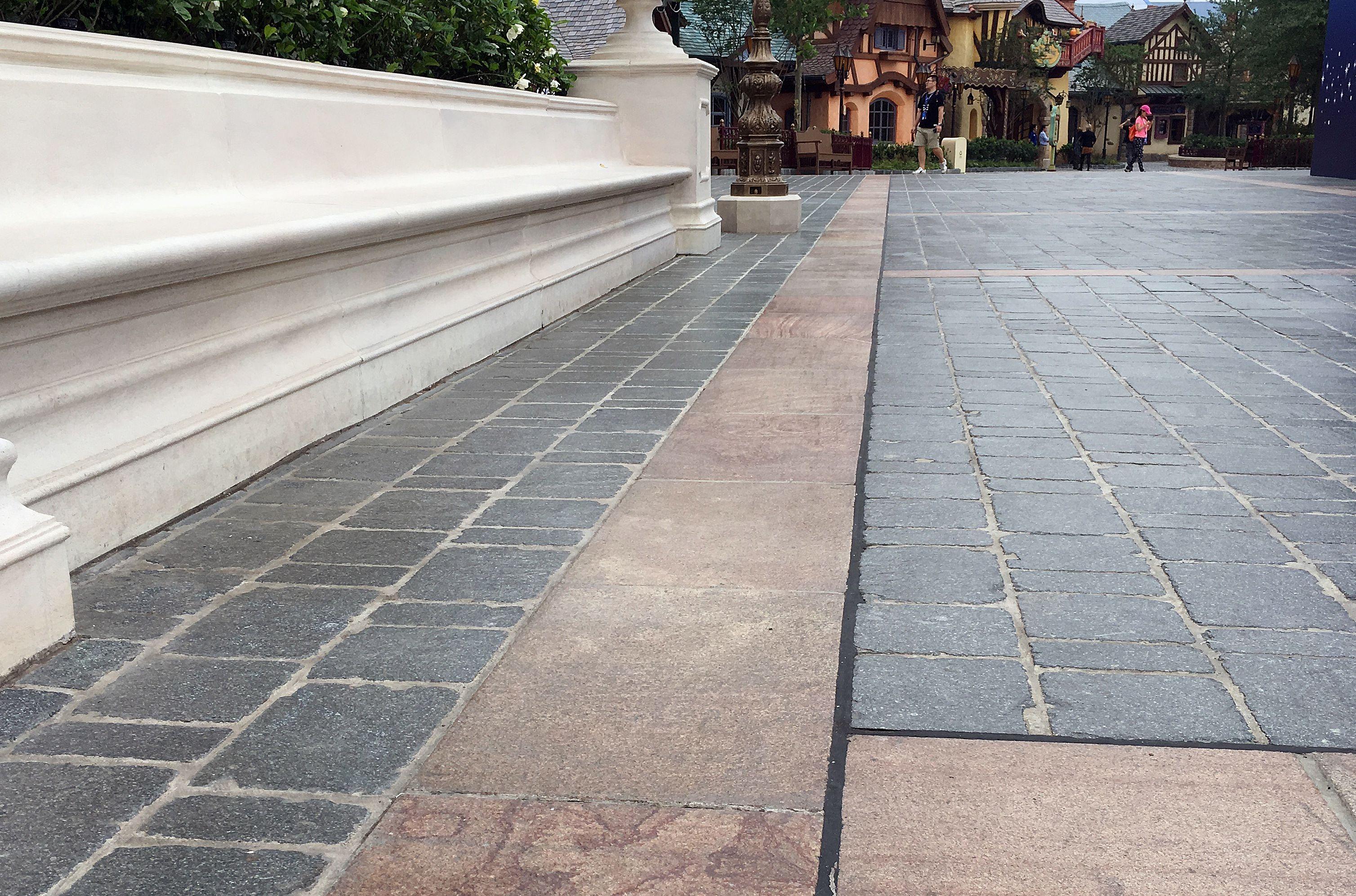 Shanghai Disneyland paving