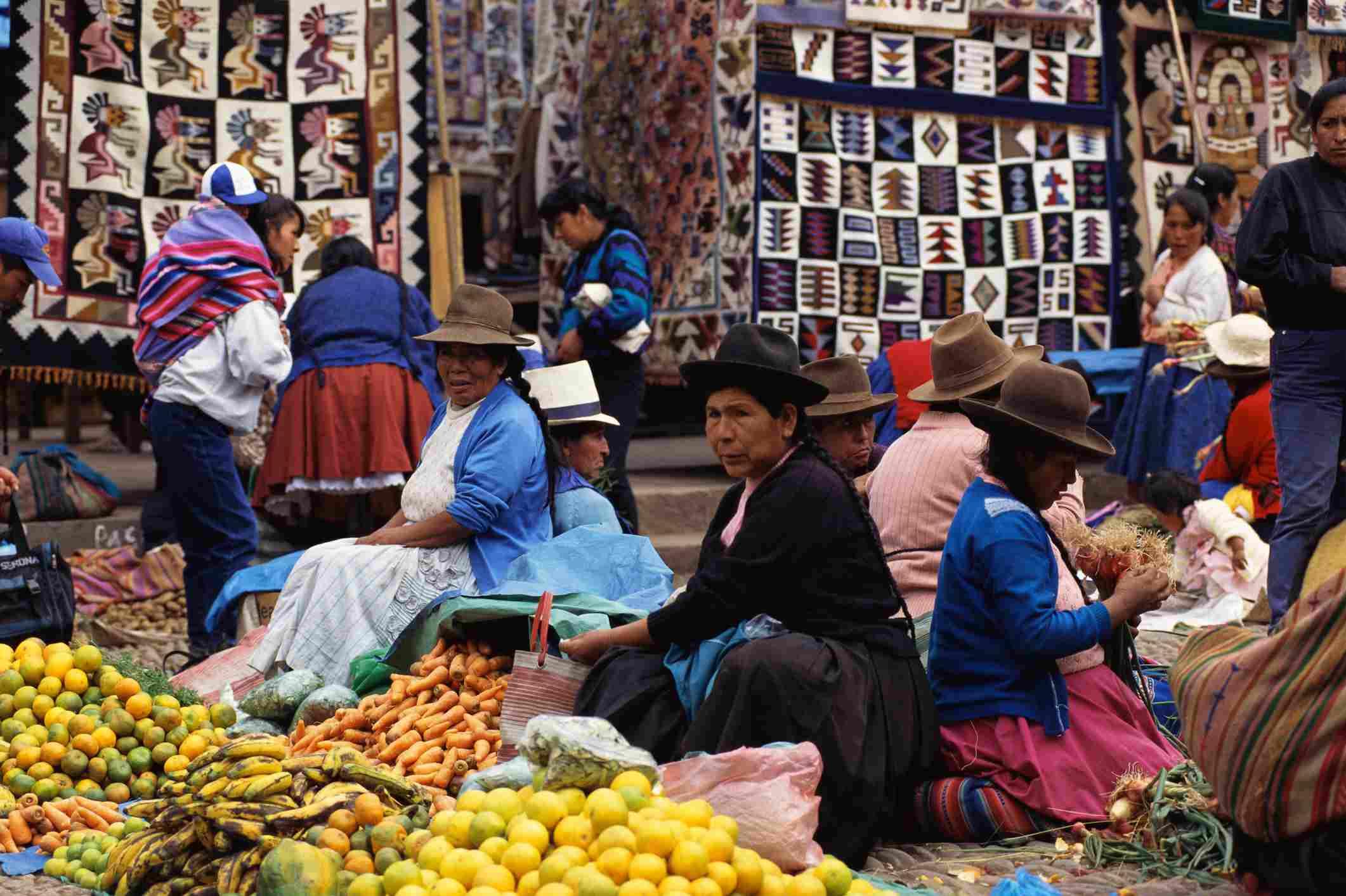 Peru food market